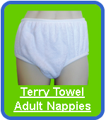 DryDayz Terry Nappies For Adults
